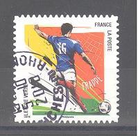 France Autoadhésif Oblitéré N°1278 (Gestes Footballeurs : Frappe) (cachet Rond) - France