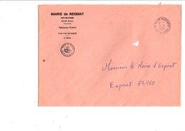 LETTRE DE MAIRIE DE REIGNIAT PUY DE DOME - Marcophilie (Lettres)