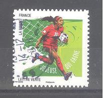 France Autoadhésif Oblitéré N°1287 (Gestes Footballeurs : Joueuse Qui Gagne) (cachet Rond) - France