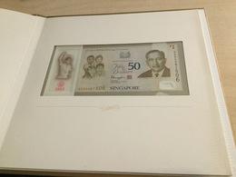SINGAPORE P61b RARE LIMITED EDITION 50 DOLLARS 2015  # SG50 COMMEMORATIVE LARGE FOLDER UNC. - Singapore