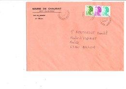 LETTRE DE MAIRIE DE CHAURIAT PUY DE DOME - Marcophilie (Lettres)