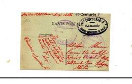 "LAB616- REGNO  , Cartolina Postale Franchigia "" 46 Centuria F "". Lyon Francia - 1900-44 Vittorio Emanuele III"