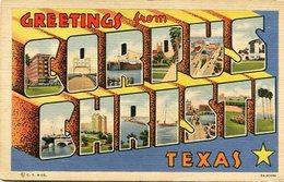 GREETINGS FROM CORPUS CHRISTI, TEXAS, ILLINOIS, UNITED STATE U.S.A. POSTAL CARD -LILHU - Corpus Christi