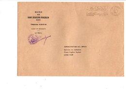 LETTRE DE MAIRIE DE SAINT-SYLVESTRE-PRAGOULIN PUY DE DOME - Marcophilie (Lettres)