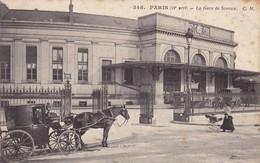 75. PARIS. CPA . ATTELAGE DEVANT LA GARE DE SCEAUX - Stations, Underground