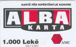 PREPAID PHONE CARD ALBANIA  (PM1443 - Albania