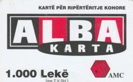 PREPAID PHONE CARD ALBANIA  (PM1444 - Albania