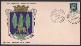 YN191  Blason De Guéret, Armoiries ,Wappen, Coat Of Arms 1964 - Buste