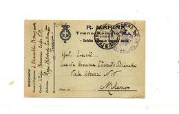 """LAB614- REGNO 1916 , Cartolina Postale Franchigia """" Comando Del Treno Armato N. 3 """". - 1900-44 Vittorio Emanuele III"""