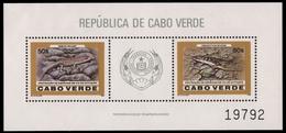 Kap Verde 1986 - Mi-Nr. Block 10 ** - MNH - Reptilien / Reptiles - Cap Vert