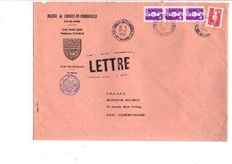 LETTRE DE MAIRIE DE CONDAT-EN-COMBRAILLE PUY DE DOME - Marcophilie (Lettres)