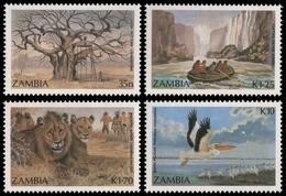 Sambia 1987 - Mi-Nr. 404-407 ** - MNH - Wildtiere / Wild Animals - Zambie (1965-...)