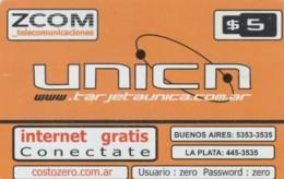 PREPAID PHONE CARD ARGENTINA  (PM1776 - Argentina