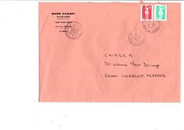 LETTRE DE MAIRIE D'AULNAT PUY DE DOME - Marcophilie (Lettres)