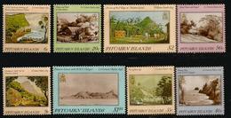 Vues De L'île PITCAIRN Au 19 Ième Siècle , Tableaux,  Deux Séries Complètes 8 Timbres Neufs ** - Stamps