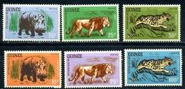 Guinea, 1962, Fauna, Lions, 6 Stamps - Francobolli