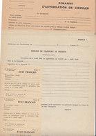 5 Documents Vierges ,demande De Laissez-passer ,de Transport....1940/45 ,2 Scans - Documents