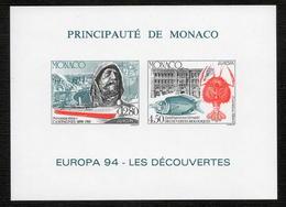 MONACO BLOC FEUILLET   SPECIAL N°23a  Europa Les Découvertes  NEUF** LUXE - Blocks & Kleinbögen
