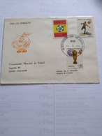 Ecuador The  Fdc SEt World  Cup 1982 July 9 1981 - Coppa Del Mondo