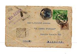 LAB626- URUGUAY 1932 , Lettera Per Firenze Compagnia Postale Aeropostale. Poco Fresca - Uruguay