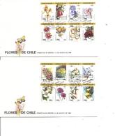 Chili - Fleurs ( 2 FDC De 1988 à Voir) - Chile
