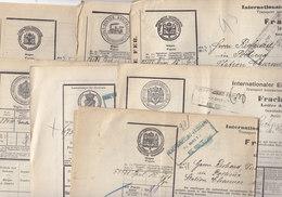 7 Lettres De Voiture Dont Alsace-Lorraine,timbres Fiscaux Au Dos , Contrôle...1910 / 1911 ;3 Scans - Trains