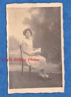 CPA Photo - VILLEMOISSON Sur ORGE - Portrait D'une Jeune Fille - Cache M. HOVE Courtier , Au Verso - Lituanie