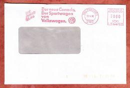Briefdrucksache, Pitney Bowes E10-5598, Corrado VW, 80 Pfg, Wolfsburg 1990 (70588) - Affrancature Meccaniche Rosse (EMA)