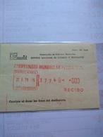 Argentina The Rare Registration Receipt Frama Machine With Legend Small Letters Campeonato Mundial De Fútbol 1978 - Coppa Del Mondo