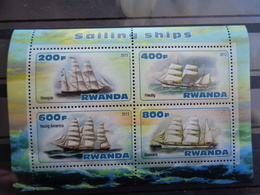 RWANDA BLOC 2013 ** - VOILIERS DIVERS - Unclassified