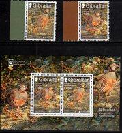 GIBRALTAR, 2019, MNH, EUROPA, BIRDS, 2v+ SHEETLET - 2019
