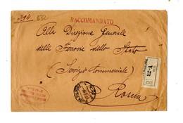 LAB632 - REGNO 27/3/1918 , P.M. N. 92A Raccomandata Da POLA Per Roma - 1900-44 Vittorio Emanuele III