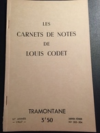 FR66 Revue TRAMONTANE - N°503 504 - 1967 - Les Carnets De Notes De LOUIS CODET - 55 Pages - Bel état - Languedoc-Roussillon