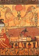 Art - Antiquité - Egypte - Cuve Funéraire De Khonsou - Détails - Les Lions Aker De L'horizon En Haut - Préparation De La - Antiquité