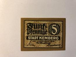 Allemagne Notgeld Kemberg 5 Pfennig - [ 3] 1918-1933 : République De Weimar