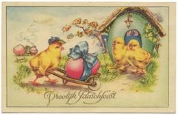 Vroolijk Paaschfeest - Kuikens Eieren Schitteren - Easter