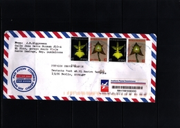 Dominican Republic 2018  Interesting Airmail Registered Cover - Dominican Republic