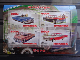 RWANDA BLOC 2013 ** - VOITURES ANCIENNES DIVERSES - Rwanda