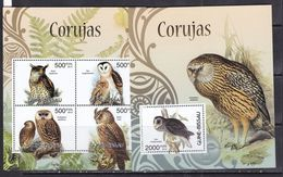 Guinea Bissau 2012 Owls Birds Of Prey  Fauna Klb+s/s MNH - Vogels