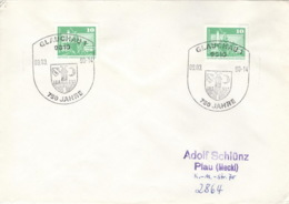 DDR Beleg Mit Sonderstempel Glauchau 750 Jahre 1990 - [6] République Démocratique