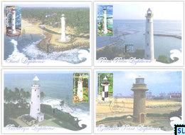 Sri Lanka Stamps 2018, Lighthouses, Maxicards - Sri Lanka (Ceylon) (1948-...)