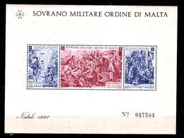 1968   Malte, émission De L'Ordre De Malte,  5X  Blocs Noël** - Malte (Ordre De)