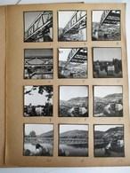 12 PHOTO ANCIENNE A LOCALISER : CONSTRUCTION DU PONT DE LA MADELEINE 1949 PONT METALLIQUE TRAVAUX METIER NOEL LE BOYER - Places