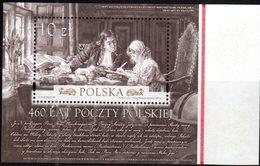 POLAND, 2018, MNH, 450th ANNIVERSARY OF POLISH POST, S/SHEET - Post