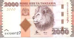 Tanzania  P-42b  2000 Shillings  2015  UNC - Tanzanie