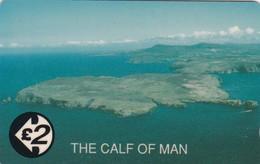 Isle Of Man, 121OMA, Calf Of Man, Mint, 2 Scans - Isla De Man
