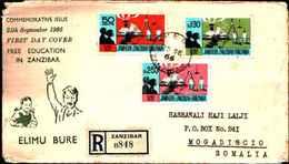 91603) ZANZIBAR-FDC FREE EDUCATION IN ZANZIBAR- 25-9-1966 - Zanzibar (1963-1968)