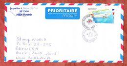 Luftpost, EF Airbus, Noumea Nach Auckland 2001 (70609) - Neukaledonien
