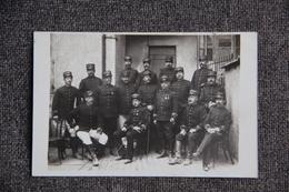 MENDE - Carte Photo De Militaires Et Officiers Du 123 ème Régiment Territorial . N°123 Sur Chaque Képi - Mende