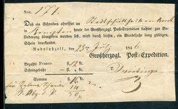 """Baden / 1846 / Postschein Ortsdruck Radolphzell, """"Grossh. Post-Expedition"""" (10759) - Deutschland"""
